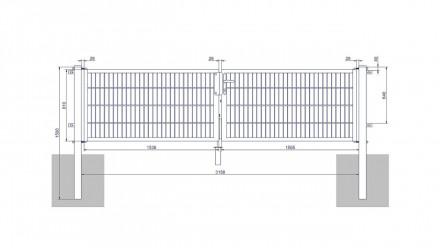 Universaltor medium 2-flg. Moosgrün