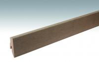 MEISTER Sockelleisten Fußleisten Eiche lehmgrau 1131 - 2380 x 60 x 20 mm