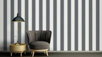 Vinyltapete grau Vintage Streifen Black & White 050