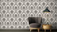 Papiertapete schwarz Vintage Blumen & Natur Ornamente Styleguide Klassisch 2021 901