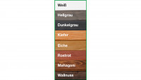 Farbliche Erstbehandlung für Saunafass Basic 330/400 & de luxe 330/400 naturbelassen
