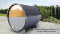 Halbrundglas für Rückwand Saunafass Basic