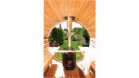 Rundglas für Rückwand Saunafass de luxe