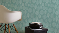 Vinyltapete grün Modern Klassisch Blumen & Natur Colibri 094