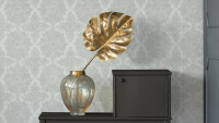 Vinyltapete grau Vintage Landhaus Barock Ornamente Blumen & Natur Boho Love 631