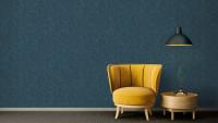 Vinyltapete Absolutely Chic Architects Paper Modern Unifarben Blau Grau Metallic 751
