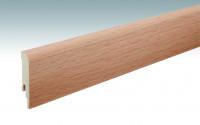 MEISTER Sockelleisten Fußleisten Buche 6201 - 2380 x 80 x 16 mm