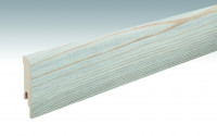 MEISTER Sockelleisten Fußleisten White Life 6390 - 2380 x 80 x 16 mm
