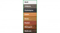 Farbliche Erstbehandlung für Svenja Saunafass naturbelassen