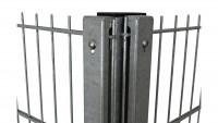 Sichtschutzpfosten Typ WSP Feuerverzinkt für Doppelstabmattenzaun