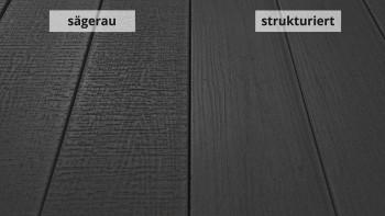 planeo TitanWood - Massivdiele Holzstruktur dunkelgrau