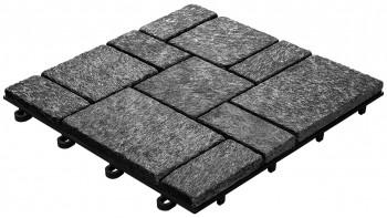 planeo Klickfliese Stone - Quarz Roma Schwarz