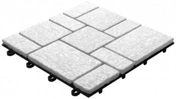 planeo Klickfliese Stone - Quarz Roma Weiß