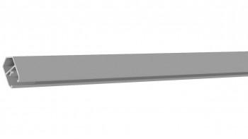 planeo Solid - Abschlussprofil Silbergrau 180cm