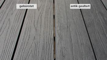 planeo TitanWood - Massivdiele dunkel-grau antik gealtert/gebürstet