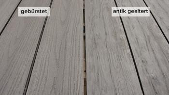 planeo TitanWood - Massivdiele hell-grau antik gealtert/gebürstet