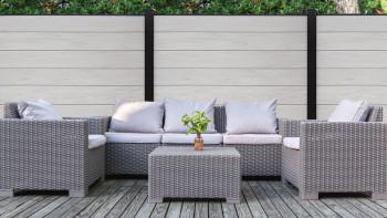 planeo XL - Gartenzaun Quadratisch Bi-Color