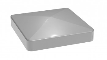 planeo Alumino Pfostenkappe Silbergrau 7x7cm