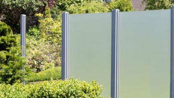 planeo Ambiente - Glas-Sichtschutz Hochkant Klarglas 90 x 180 cm