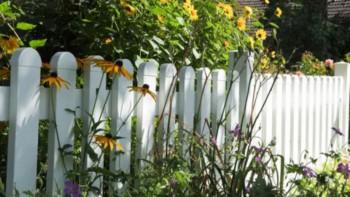 planeo Basic - Vorgartenzaun 180 x 63 cm - gerader Verlauf Weiss