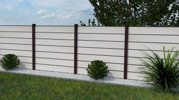 planeo Solid Grande - Gartenzaun Premium BiColor Weiß