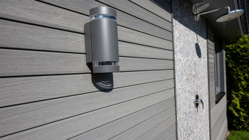planeo Fassadenverkleidung - COEX Fassadenprofil 5.4m Medium Grey gebürstet