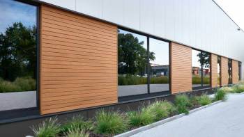 planeo Fassado - WPC Rhombusleiste Fassadenverkleidung Eichenbraun