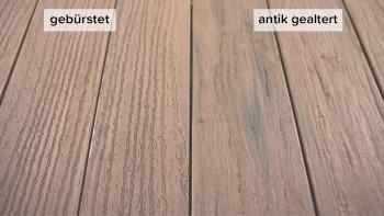 planeo TitanWood - Massivdiele sand-grau antik gealtert/gebürstet