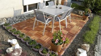 planeo Holz-Terrassenfliese Akazie 30x30 cm - 5 Stk