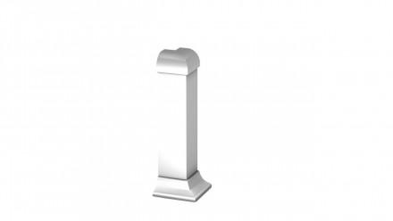 Angle extérieur Prinz pour plinthe / plinthe en aluminium - 13x60 mm