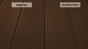 planeo TitanWood - Structure de bois massif en planches brun foncé