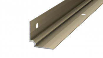 Nez de marche Prinz angle intérieur - 25 x 25 mm - acier inoxydable satiné