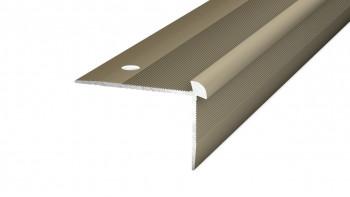 Profil de nez de marche Prinz en acier inoxydable mat jusqu'à 5 mm