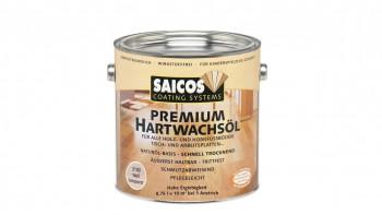 Huile de cire dure Saicos PREMIUM Blanc transparent mat 0,75l