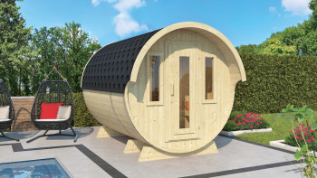 planeo sauna barrel 330 de luxe