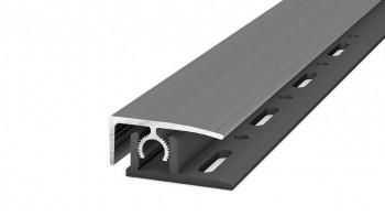 Prinz Profi-Tec MASTER profilé d'extrémité 1000 mm en acier inoxydable brossé