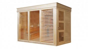 planeo Sauna Paradiso 3x2 (2 pièces) finition naturelle