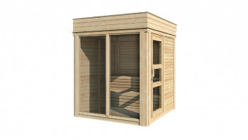 planeo Sauna Paradiso 2x2 finition naturelle