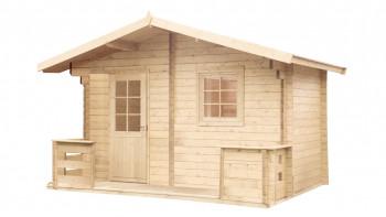 planeo sauna house de luxe Sanna 70 finition naturelle