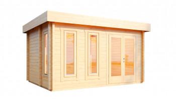 planeo sauna house de luxe Eurika 70 finition naturelle
