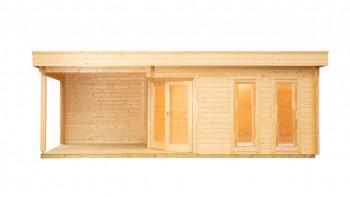planeo sauna house de luxe Yurika 70 finition naturelle
