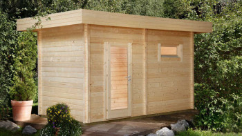 planeo sauna house de luxe Mikko 70 finition naturelle