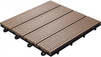 planeo WPC carreau de patio brun 30x30 cm - 6 pcs.