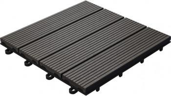 planeo WPC carreau de patio anthracite 30x30 cm - 6 pcs.