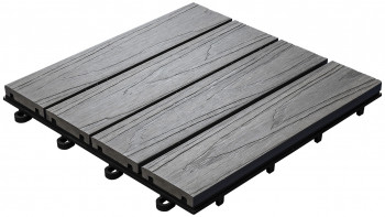 tuile clic planeo WPC 3D - anthracite