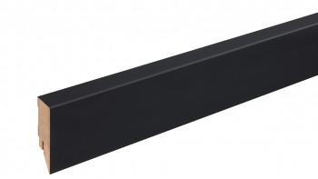Plinthe noire mate 16x58 mm