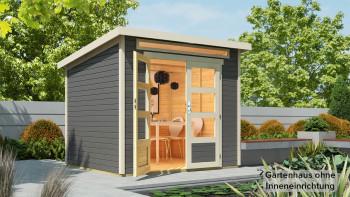 abri de jardin planeo - maison système Venlo gris titane
