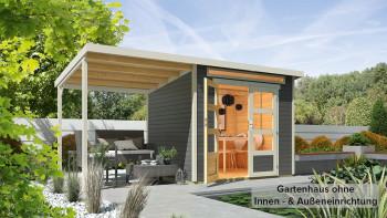 maison d'été planeo - maison système Venlo gris titane avec SD blanc ivoire