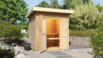 planeo sauna house Basic Lenja finition naturelle