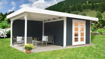 planeo summer house - system house Relax Lounge avec toit latéral et paroi arrière